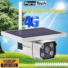 Caméra de surveillance extérieure solaire IP 4G HD 1080P, dispositif de sécurité sans fil avec batterie intégrée, type YN88, pour carte SIM, nouvelle collection