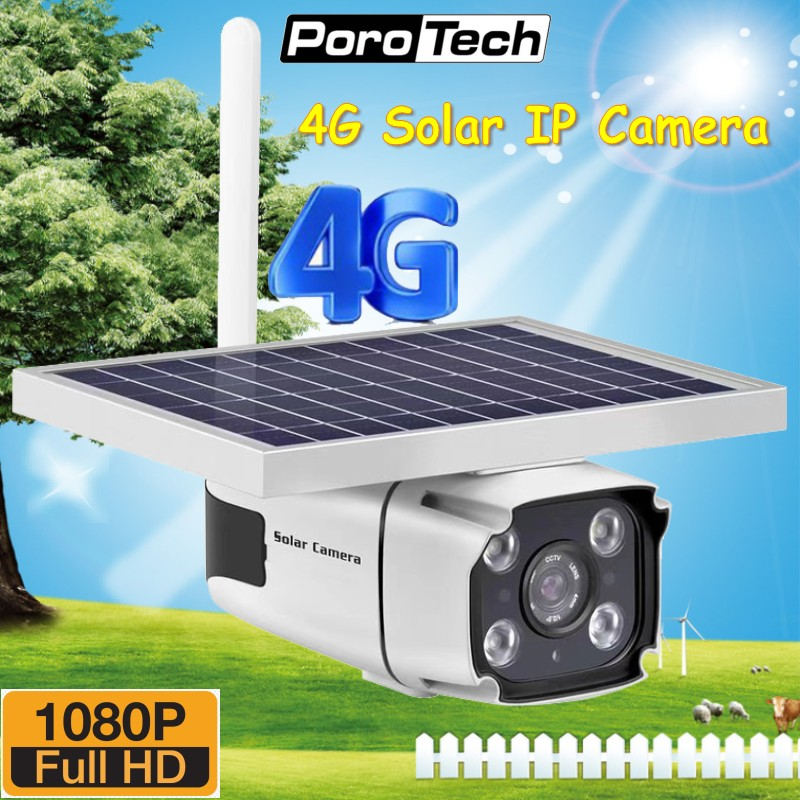 Newest 4G Solar Powered IP Camera With Built-in Battery Support 4G SIM Card HD 1080P Wireless Outdoor Security CCTV Camera YN88