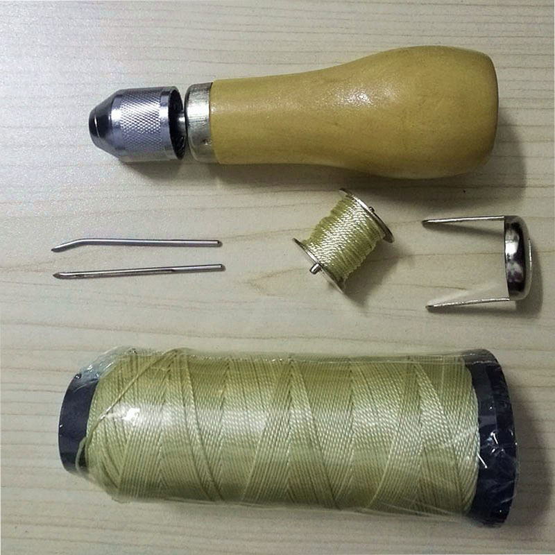 Leather Lock Stitch Sewing Awl Thread Kit Fabric Needles Stitch DIY Leathercraft