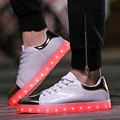 2017 New Colorful glowing led shoes with lights up luminous casual shoes simulation men Couples shoes for adults neon basket