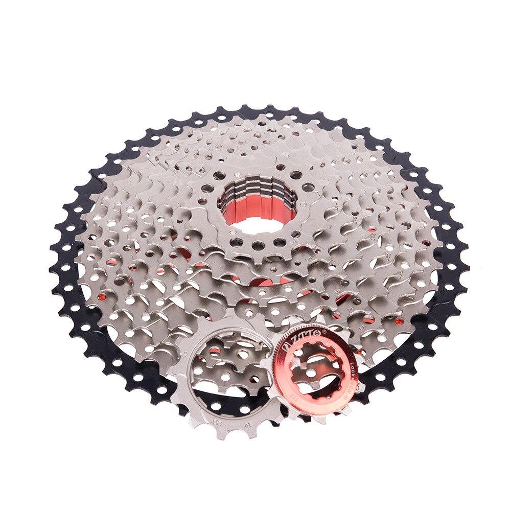 ZTTO MTB Mountain Bike Cassette Sprocket 10speed 11 -46T Wide Ratio Freewheel Mountainous Bike AccessoriesZTTO MTB Mountain Bike Cassette Sprocket 10speed 11 -46T Wide Ratio Freewheel Mountainous Bike Accessories