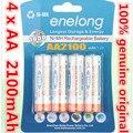 4 pçs/lote original aa 1.2 v 2100 mah para bateria ni-mh recarregável aa enelong