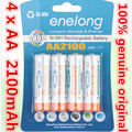 4pcs/lot Original AA 1.2V 2100mAh For enelong rechargeable AA Ni-MH battery