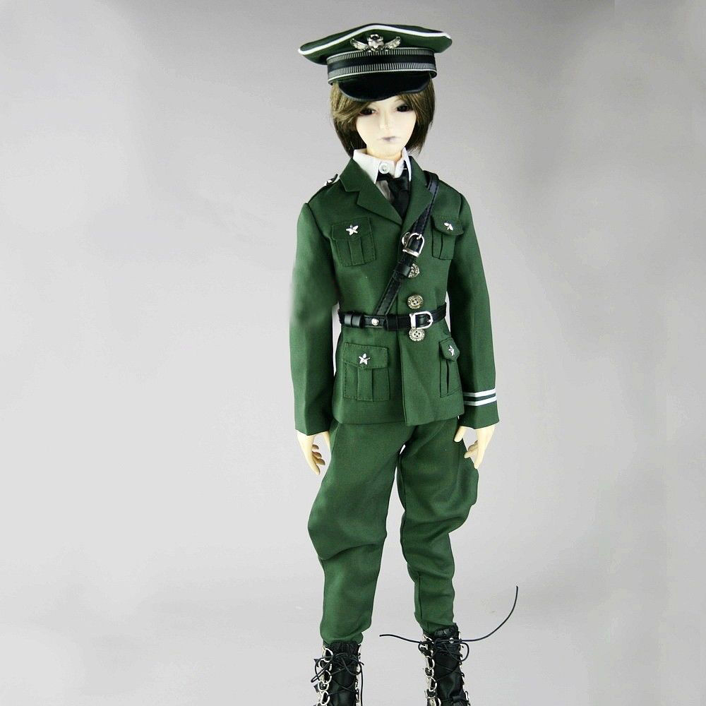 [wamami] 501# Military Uniform Suit/Outfit For 1/3 SD DZ BJD Doll Dollfie uncle 1 3 1 4 1 6 doll accessories for bjd sd bjd eyelashes for doll 1 pair tx 03