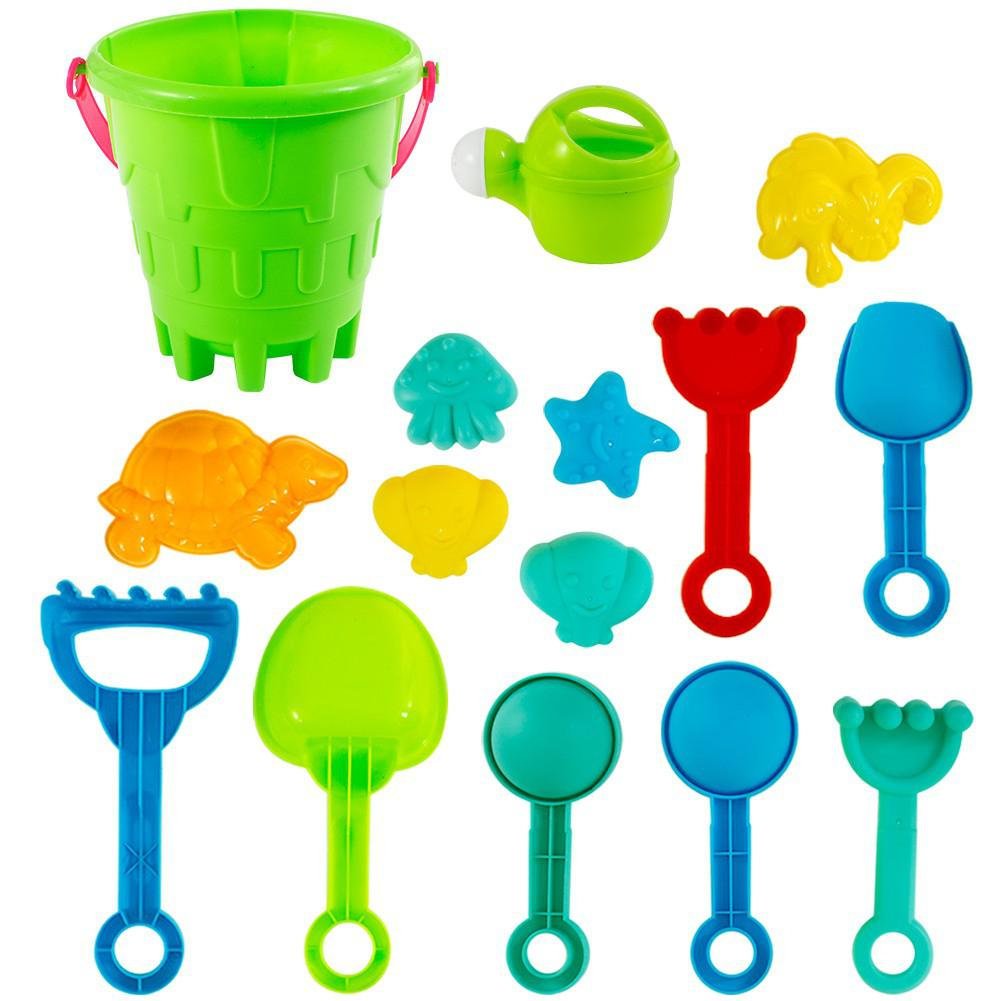 Rctown 27Pcs/Set Fun Water Beach Sand Bucket Gaming Toys Gifts For Kids Boys Girls Toddlers D30