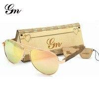 Brand New G M Brand Male And Female Metal And Black Walnut Fashion Mirror Sunglasses Polarized