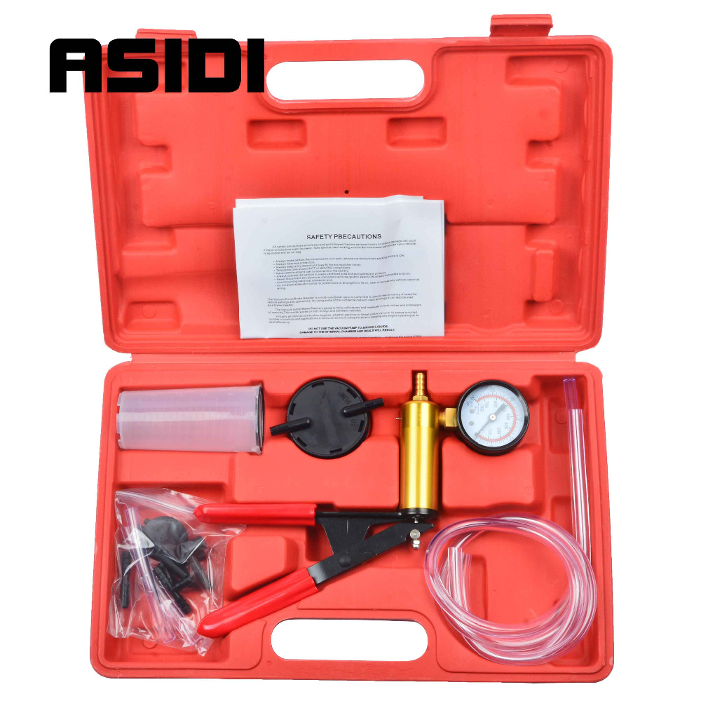 Car Motorbike Bleeding Hand Held Brake Bleeder Tester Set Bleed Kit Vacuum Pump