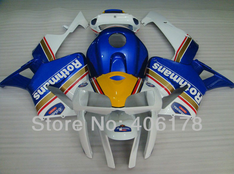 Hot Sales,05 06 CBR600RR F5 Full Fairings For Honda CBR 600 RR 2005 2006 Race Bike Rothmans Moto Body Kits (Injection molding)