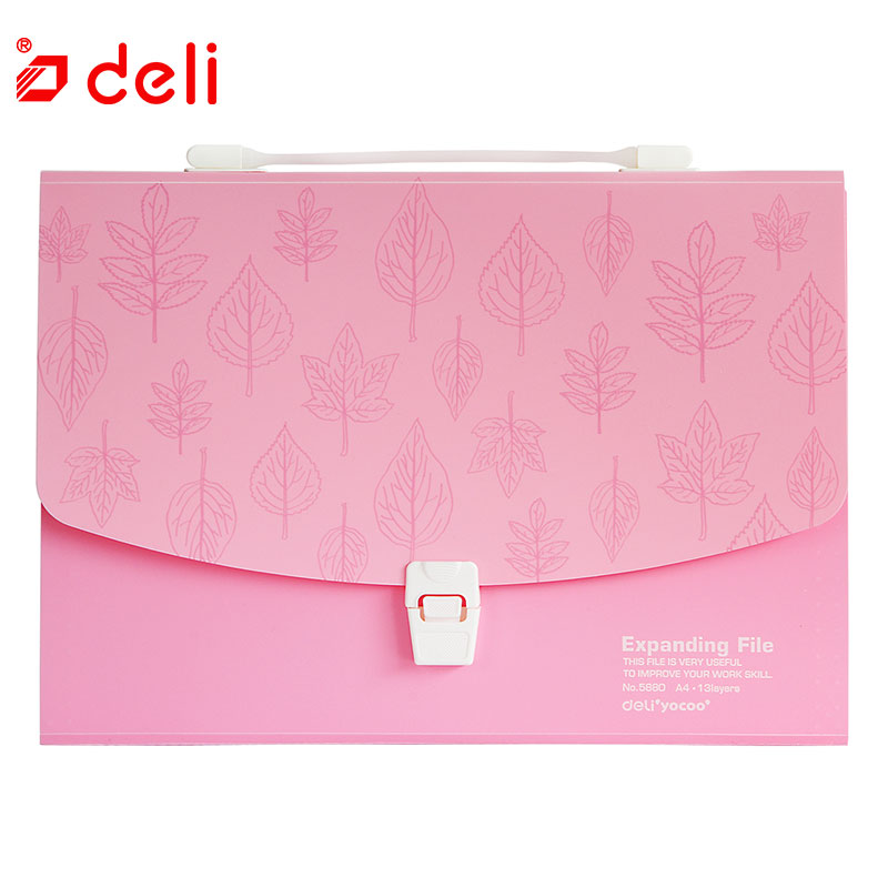 Deli A4 File Bag Waterproof Business Briefcase Candy Color Filing Bags Document Bag DIY Stationery Bag Office School Supplies 1 set business file tray diy desktop magazine a4 file organizer document trays office supplies stationery random color