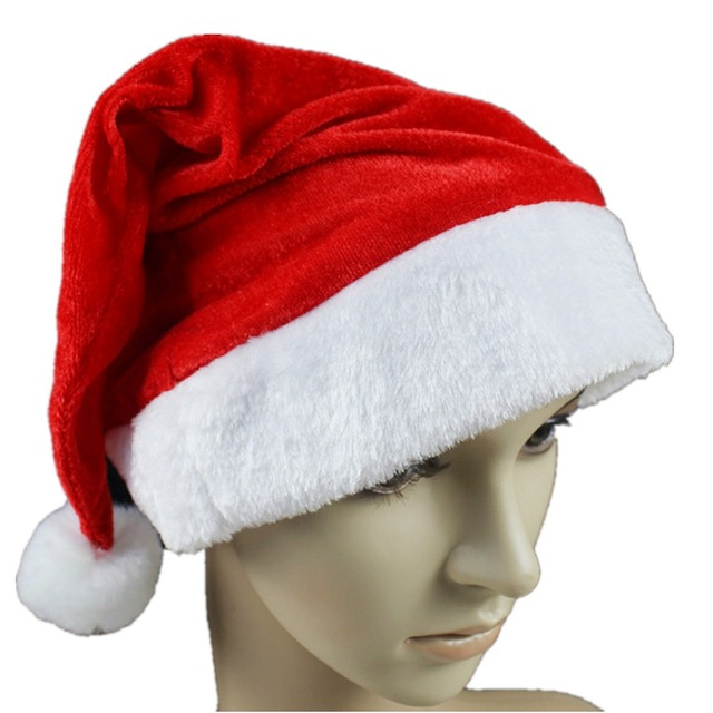 9a96d7b8620f0 Super Deal Christmas Caps Thick Ultra Soft Plush Santa Claus Holidays Fancy  Dress Hats Fashionable Design