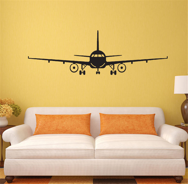 Yanqiao Plan Airplane Wall Sticker Kids Room Bedroom Nursery Art ...