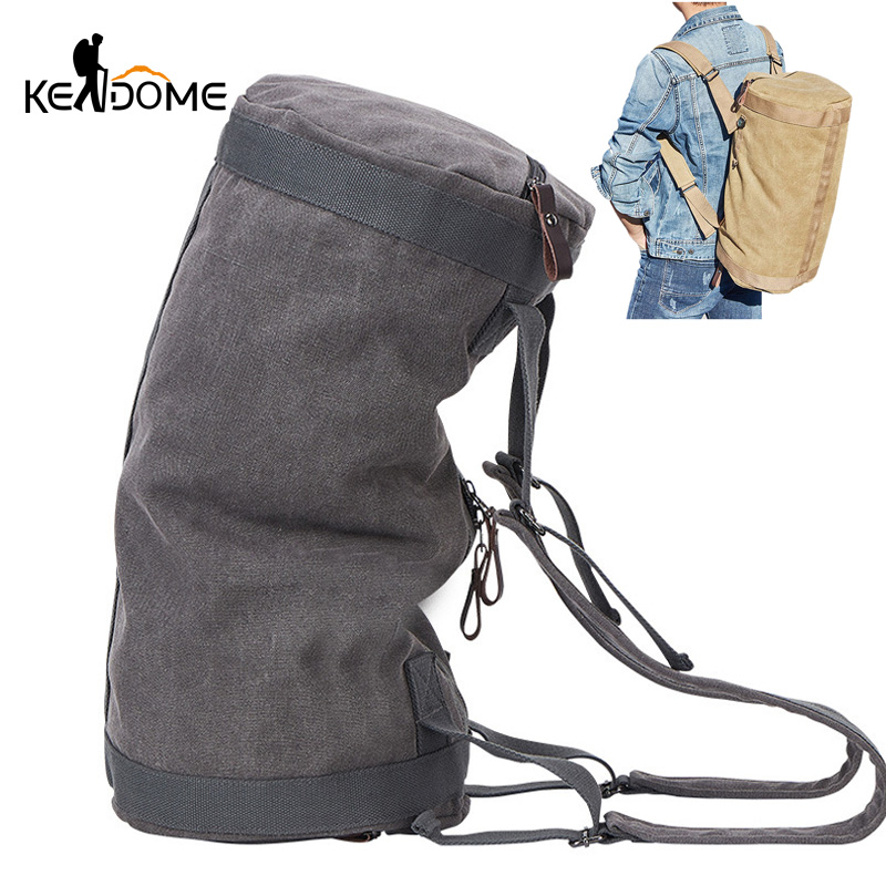 Travel Duffel Canvas Bag of Large Capacity Outdoor Travel Bag Handbag Male Fitness Male Cylindrical Bag Gym Sports Luggage Bag