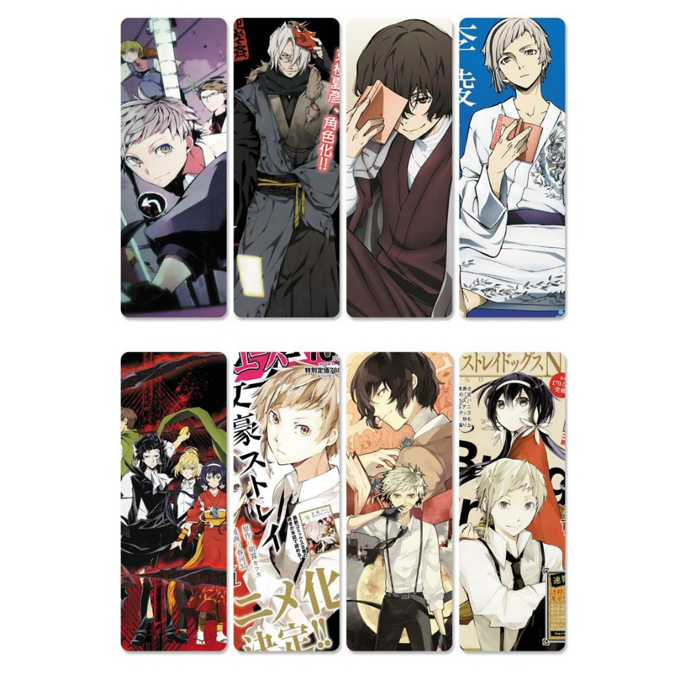 8pcs//set PVC Bookmarks of Bungou Stray Dogs book mark