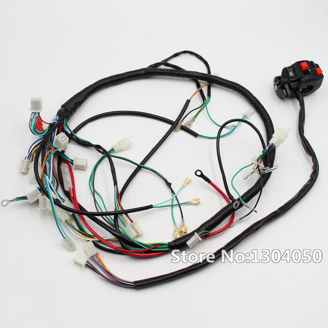 wiring loom harness parts with functiona switch 200cc 250cc 300cc rh aliexpress com motorcycle wiring harness components Custom Motorcycle Wiring Harness