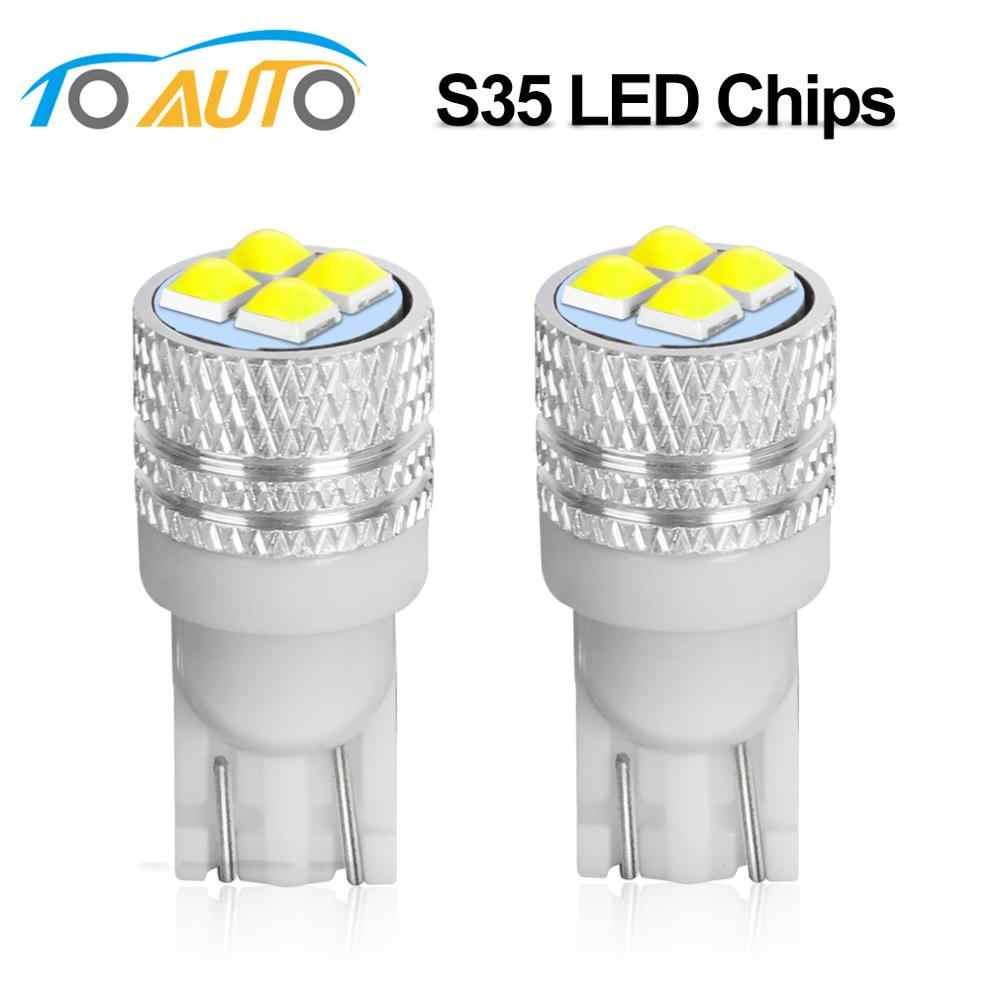 2Pcs T10 LED W5W WY5W 501 168 High Quality Super Bright LED Car Reading Dome Lights Auto Marker Lamps Wedge Tail Side Bulbs 12V