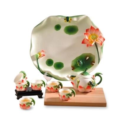Kung Fu tea set tea tray teapot set of household portfolio-in Coffeeware Sets from Home & Garden    1