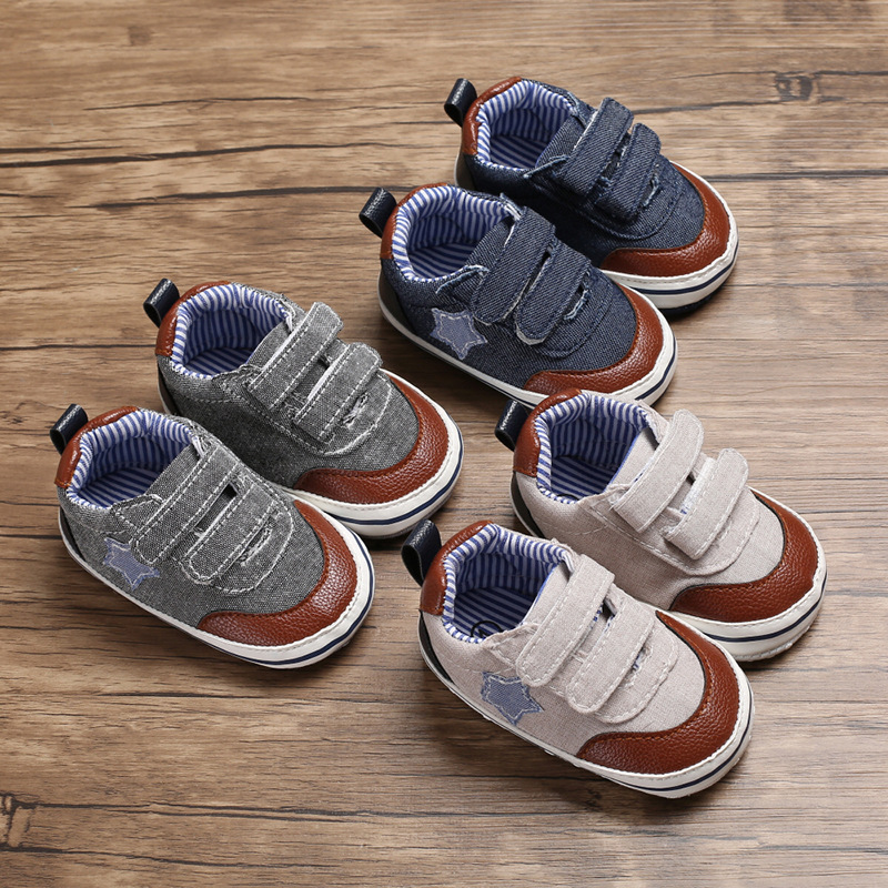 Spring And Autumn 0-1 Years Old Male Baby Casual Non-slip Baby Toddler Shoes