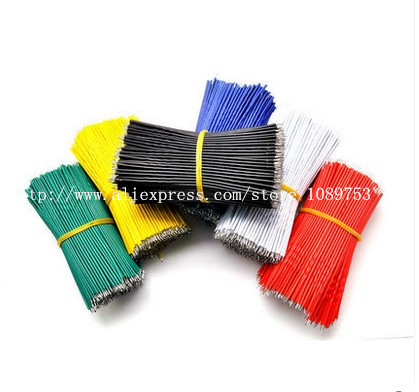 все цены на 100pcs 24AWG color PCB Solder Cable 10cm Fly Jumper Wire Cable