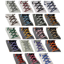 fashion casual shoelaces high quality Waxed Round shoe laces Shoestring Martin Boots Sport Shoes Cord Ropes(China)