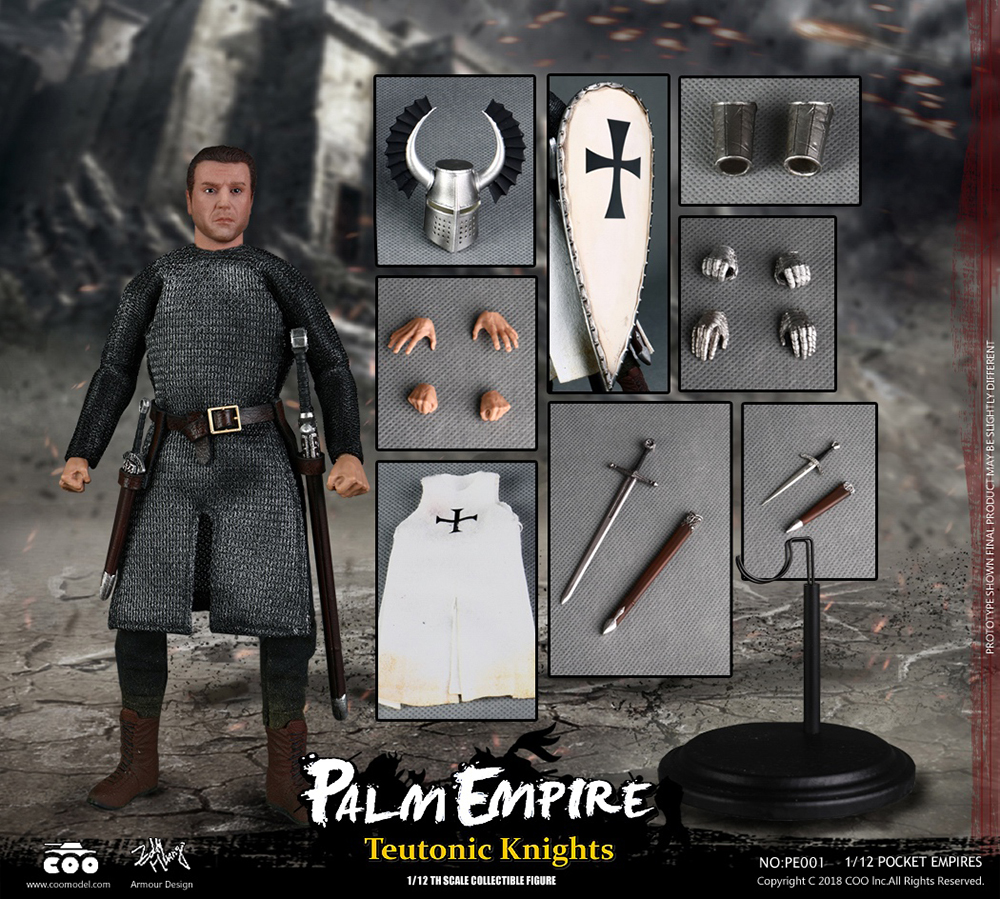 1//12 Scale COOMODEL NO.PE003 POCKET EMPIRES HOSPITALLER KNIGHT