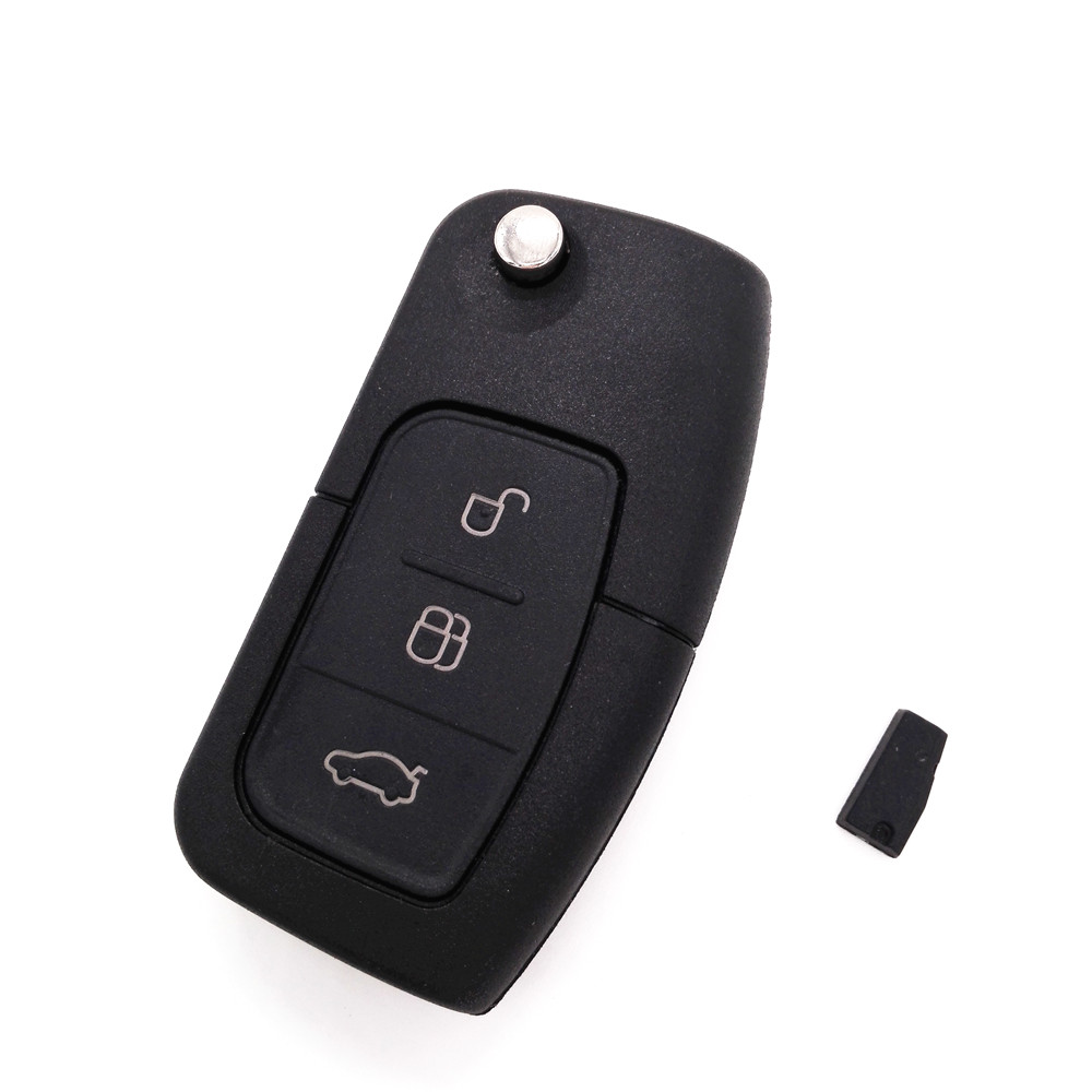 Hot!Brand New Folding Flip Remote Car Key 3 Button 433MHZ For FORD Focus Mondeo Fiesta With 4D-63 chip free ship rhf5 vida 8972402101 8971856452 turbo turbocharger for isuzu d max rodeo pickup 2004 4ja1 l 4ja1l 4ja1 2 5l td 136hp