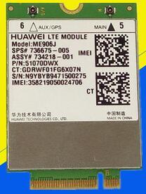 Carte WLAN 4G pour HUAWEI modèle ME906J 3G 4G Module WWAN LTE quadri-bande WCDMA GPS NGFF carte interne sans fil M.2