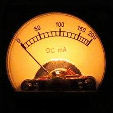 DC200 mA Pointeur Ampèremètre Tube Amplificateur Pièces avec Rétro-Éclairage Électronique Tube 300B VU-Mètre