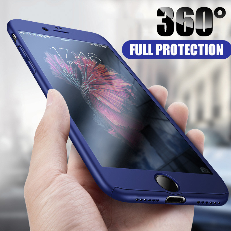 360 Degree Full Cover Phone Cases Shockproof Cover With Glass