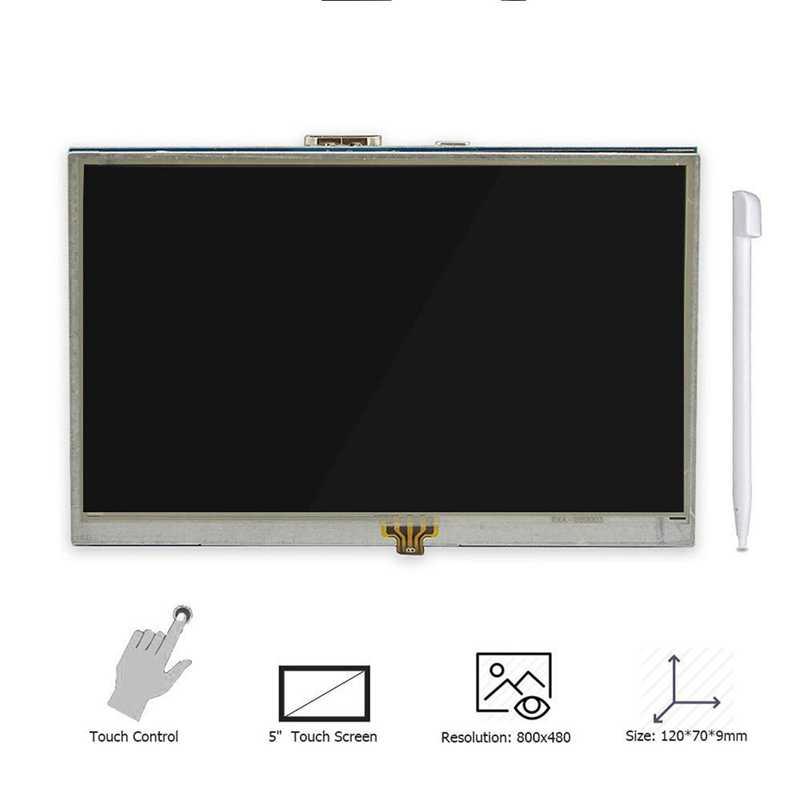 5 дюймовый ЖК HDMI Сенсорный экран Raspberry Pi 3 Дисплей монитор lcd hdmi 800x480 для Banana Pi Raspberry Pi 3/Pi 2 Модель B/B +