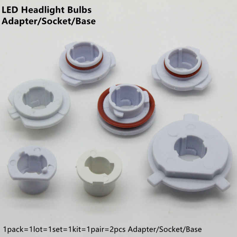 H7 LED Headlight Bulbs Adapter Socket Base H11 H3 H4 H1 9005 HB3 9006 HB4 Holder