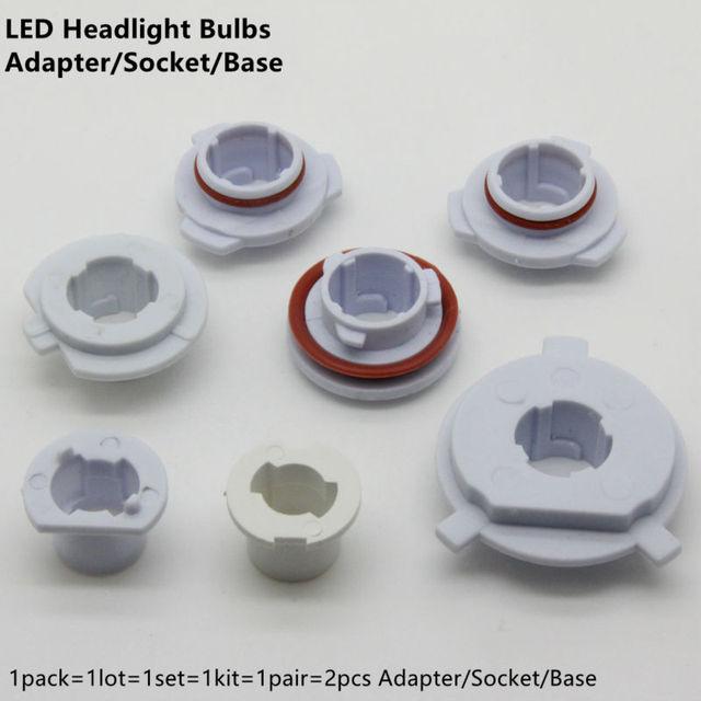 ocsion h7 led headlight bulbs adapter socket base h11 h3. Black Bedroom Furniture Sets. Home Design Ideas
