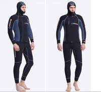 Dive&Sail 5MM Wetsuit Men With Hood Neoprene Diving Scuba Jumpsuit Spearfishing Underwater Clothes 2 Piece Diving Equipment