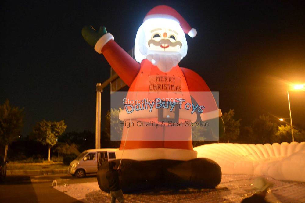 DC09  10mH 33'  Inflatable Lighting Santa Claus / Inflatable Xmas / Christmas  Airblown  Party Decoration +  Blower + Shipping free shipping hot sales inflatable christmas santa claus christmas decoration