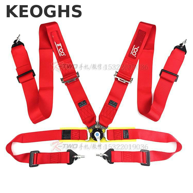 Keoghs High Quality Racing Seat Belt 4/5/6 Point Blue Black Red 3 Inch 7.5cm Universal For Racing Car Modify аксессуар чехол ibox slider universal 4 2 5 inch blue