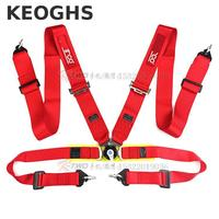 Keoghs High Quality Racing Seat Belt 4/5/6 Point Blue Black Red 3 Inch 7.5cm Universal For Racing Car Modify