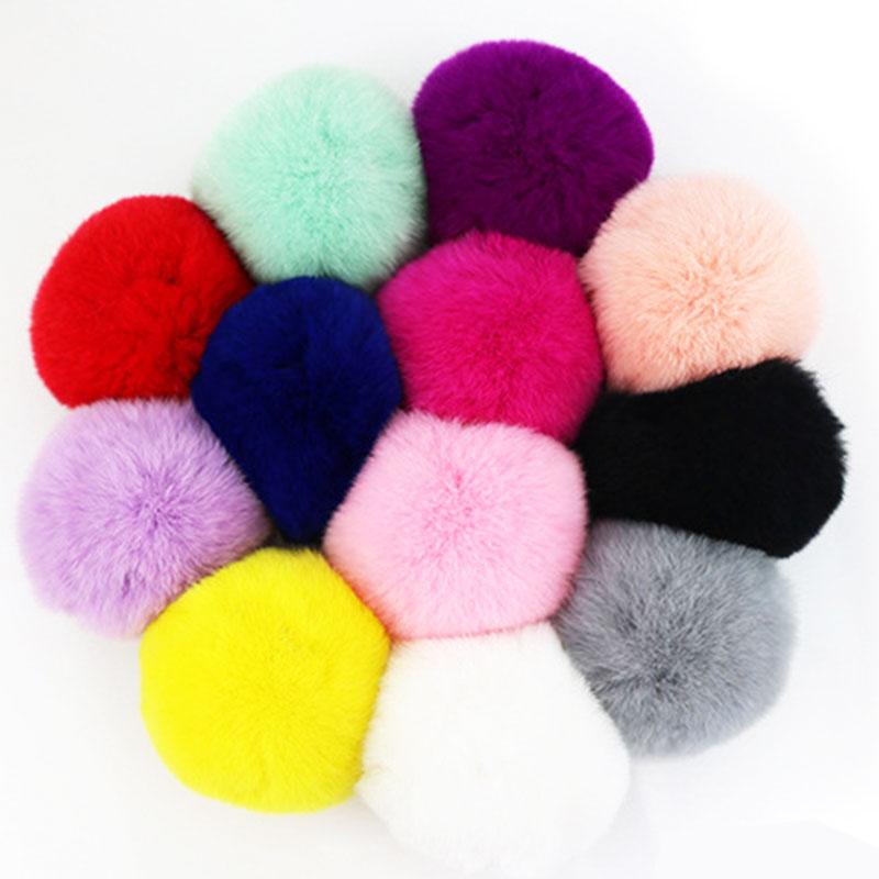 Snowball™ Artificial Rabbit Fur Soft Ball Pom Pom Keychain