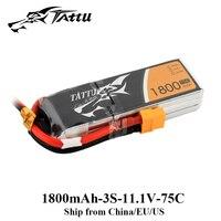 TATTU Lipo Battery 11.1V 1800mAh Lipo 3S 75C RC Battery with XT60 Plug Batteries for FLIP FPV FRAME Drone Quadrocopter