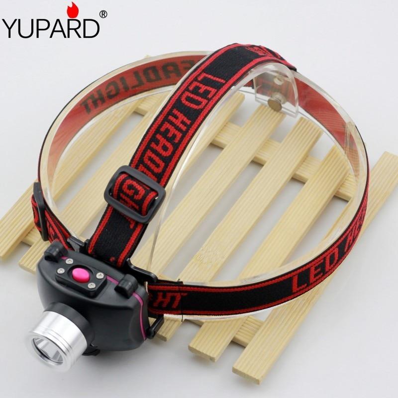 YUPARD miner mining lamp camping lantern fishing headlamp Q5 LED headlight lamp torch light built in battery+USB charger line