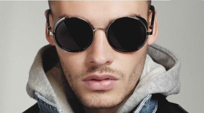 round steampunk sunglasses for men