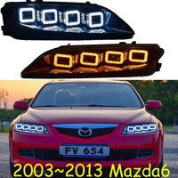 Car Styling for 2003 to 2013year Mazda 6 Headlight LED Mazda6 Headlights DRL Lens Car Accessories