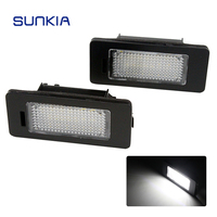 2pcs Set SUNKIA 12V DC Car LED License Plate Light Canbus Error Free 6000k For Audi