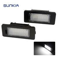 2pcs Set SUNKIA 12V DC Car LED License Plate Light Canbus Error Free 6000k For Audi
