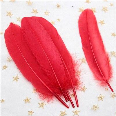 Натуральные лебединые перья 14-20 см, многоцветные гусиные перья, шлейф для рукоделия, свадебных украшений, рукоделия, украшения для дома, 50 шт