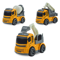 Inertia Alloy Truck Model Children Toys,Crane Excavator Mixer truck toy,Mini Alloy Engineering vehicle