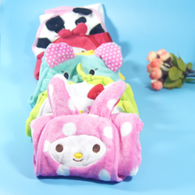 New Baby Hand Towel Soft Children's Cartoon Animal Hanging Bath Towel Six Colors,  Kitchen Supplies New Character Hanging Towel