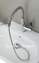 Завод прямых продаж! Вытащить кухня faucet. Твердые латунный сгущает весной faucets. Два изливы кухня смеситель sam91