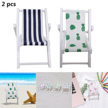2pcs Mini Wooden Beach Chair Decoration Craft Supplies Wedding Photography Accessories XH8Z(China)