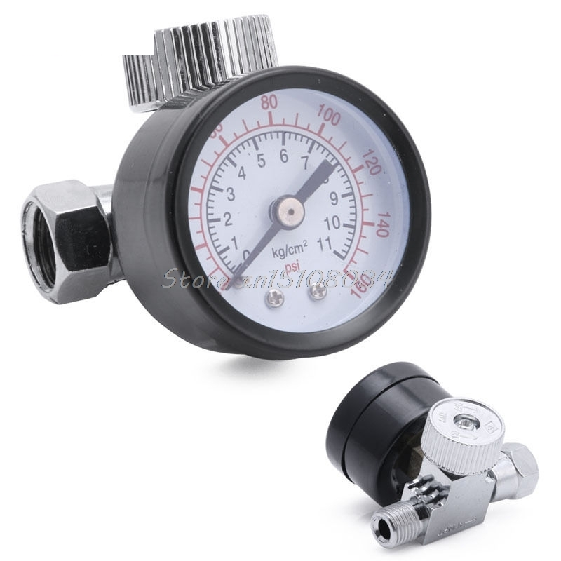 Pneumatic Air Control Compressor Pressure Gauge Regulator Regulating Valve New S08 Wholesale&DropShip
