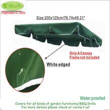 Бесплатная доставка, 3 местный садовые качели кресло навес, темно-зеленый .200x125cm / 78.74×49.21 «