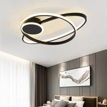 Modern nordic minimalist ceiling light creative lron LED ring lamp for living room bedroom study dinner cafe e27